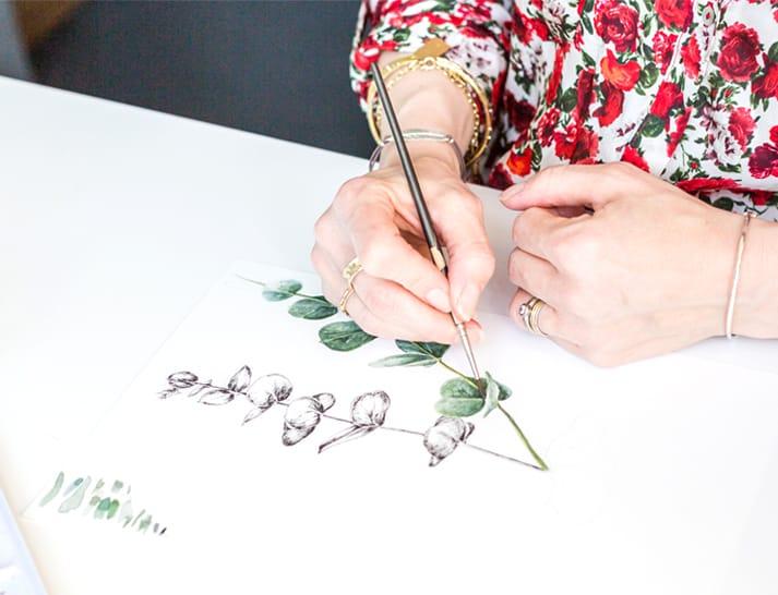 watercolour illustrations plant