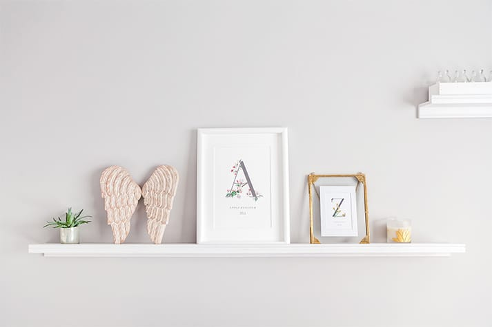interior art botanical shelf apple zephyr