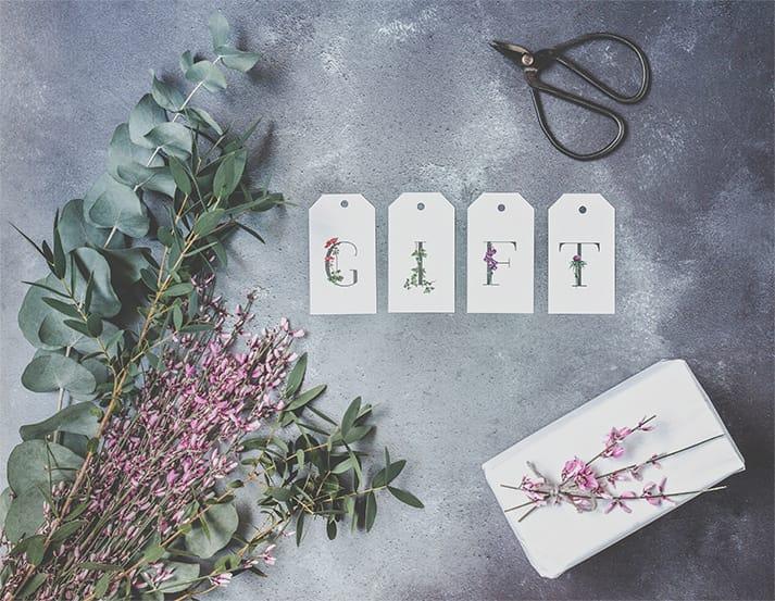 botanical gift tags range