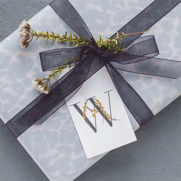 botanical gift tags winter jasmine