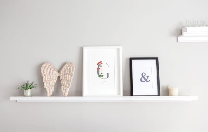 botanical alphabet geranium frame