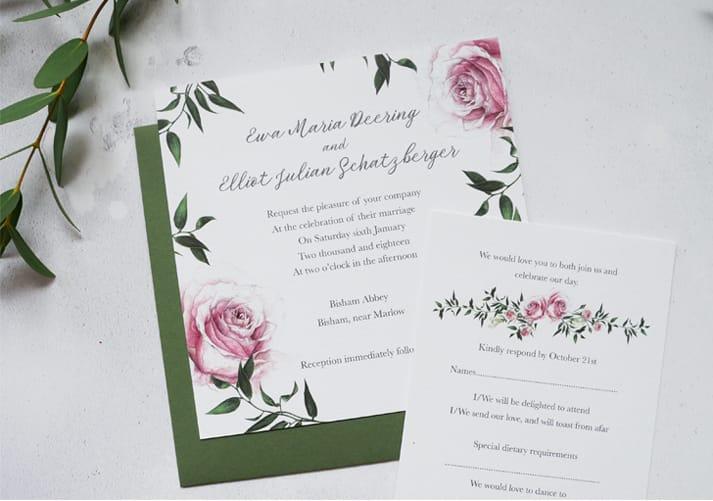 winter wedding invite