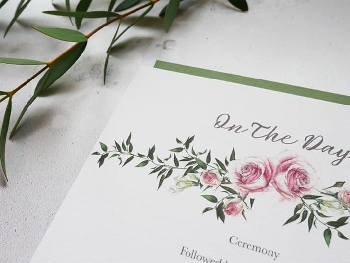 winter wedding order of service