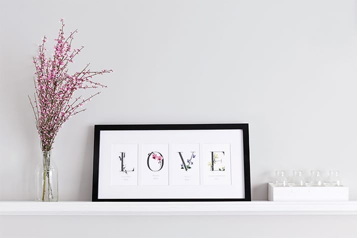 interior art botanical love