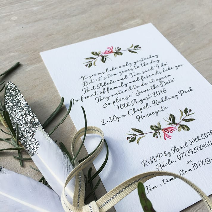 wedding stationery invite detail