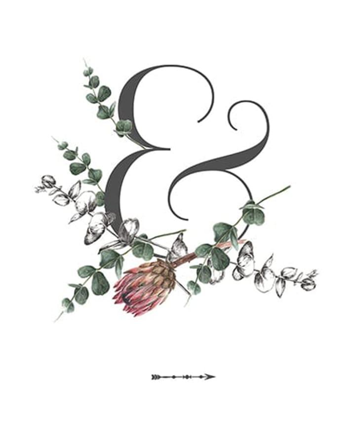 wedding details ampersand