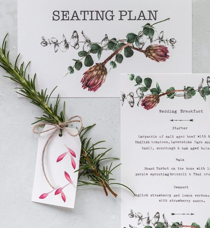 wedding details seating plan