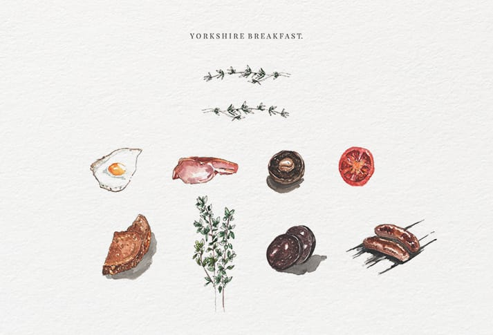 bespoke illustrations Yorkshire breakfast