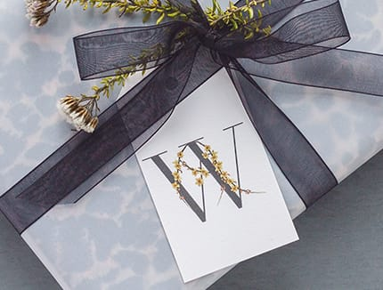 gift tag present