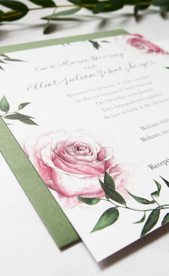 winter wedding invite detail
